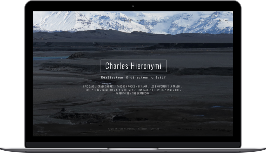 Website Charles Hieronymi